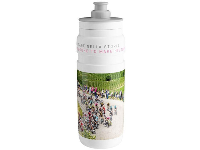 Elite Fly Team Trinkflasche 750ml giro white 2019
